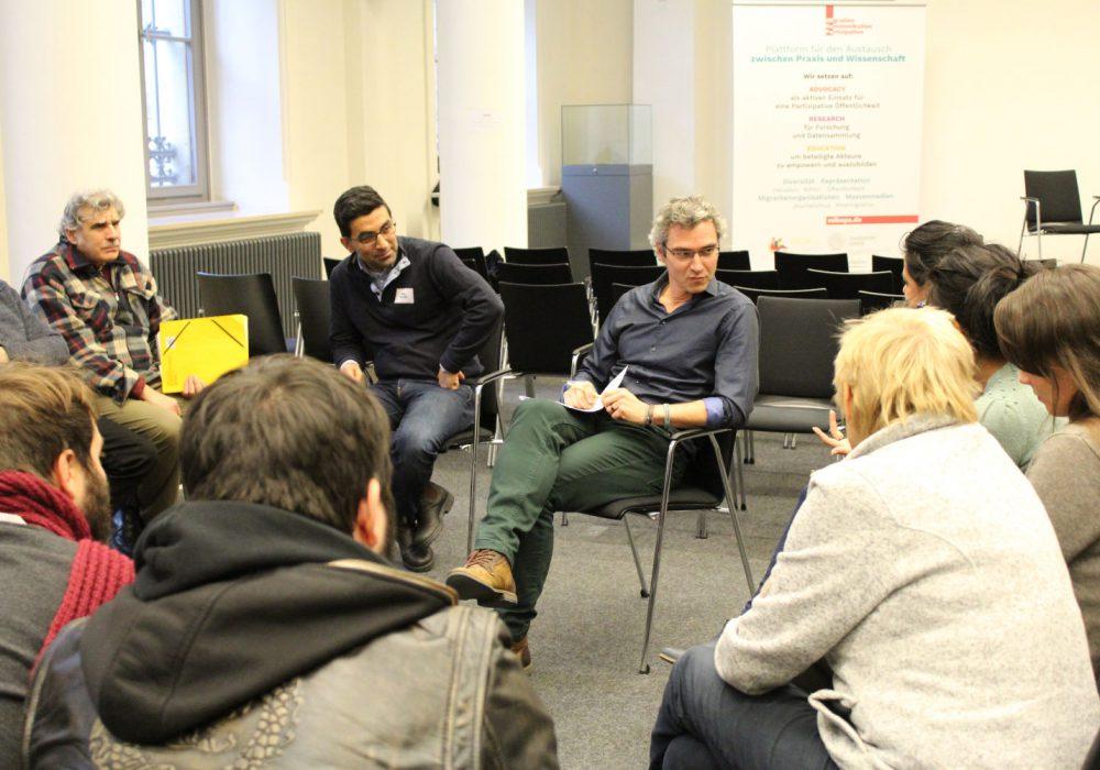 In drei Sitzrunden konnte das Publikum mit den Panel-Teilnehmer*innen ins Gespräch kommen, hier mit Marc Daniel